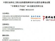 TPE创新应用研讨会12月初登陆宁波