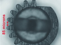驱动白内障手术刀的超微齿轮
